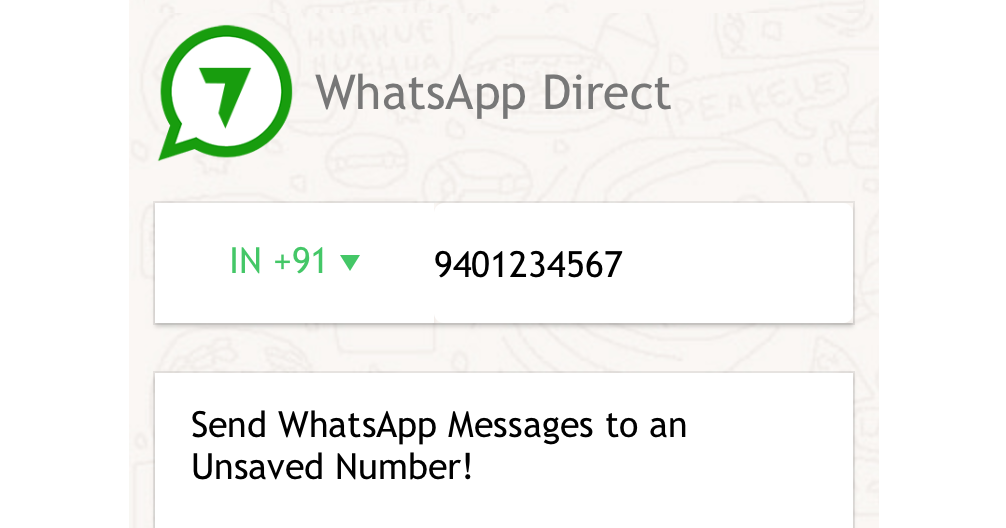 WhatsApp Direct - Send WhatsApp messages without adding contact