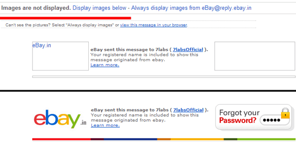Send unblocked images within an HTML email