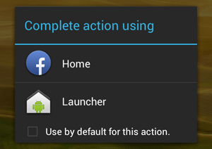 Enable Facebook Home Launcher