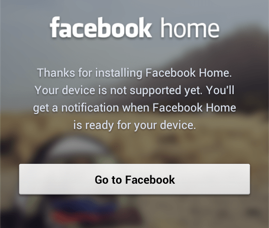 Facebook Home for All Android Devices