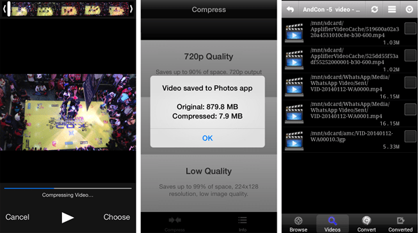 Compress video on Smartphone
