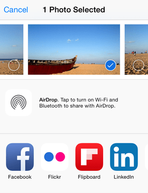 Share Extension on iOS 8