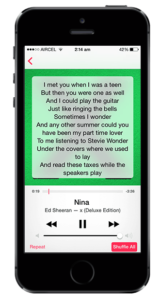 Add lyrics to music files and view them offline