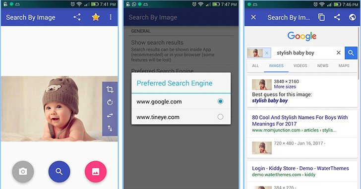 Search by image on Android - Reverse Image Search