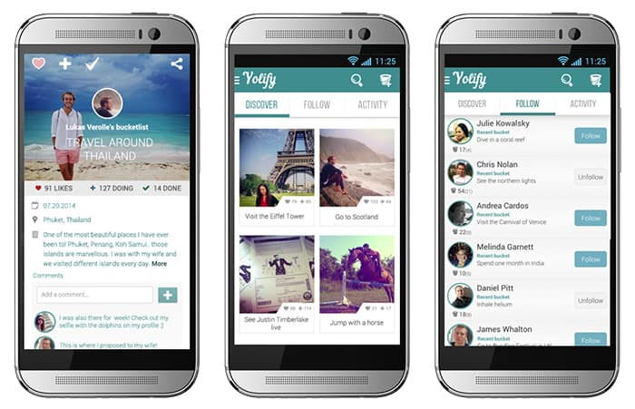 Bucket list app Yolify makes you plan and capture your life goals