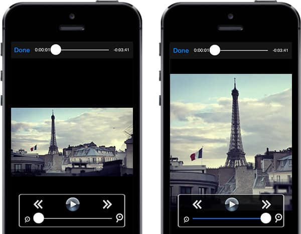 Zoom videos on iPhone, iPad, iPod