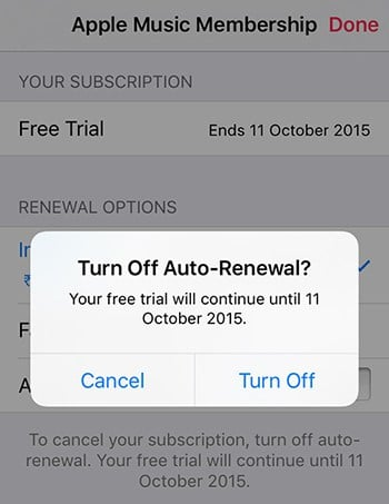 Cancel Apple Music subscription - iPhone, iPad, iPod Touch