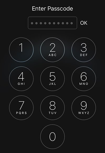 Create a Simple Passcode greater than 4 (or 6) digits - iOS tricks