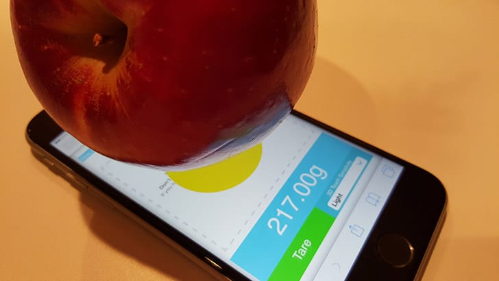 Measure weight with iPhone 3D Touch