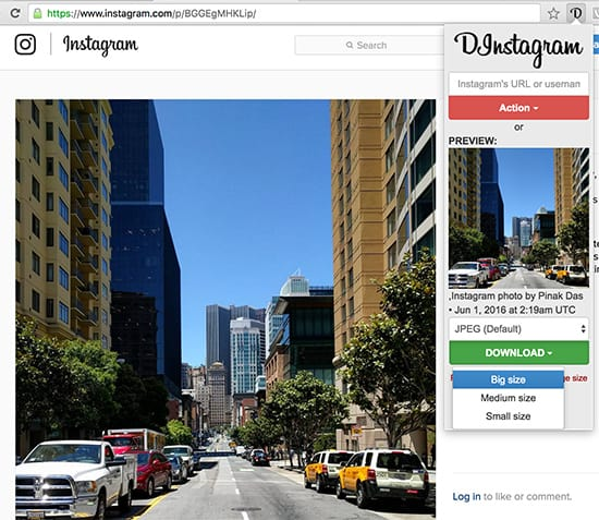 Download Instagram photos and videos using Chrome Extension