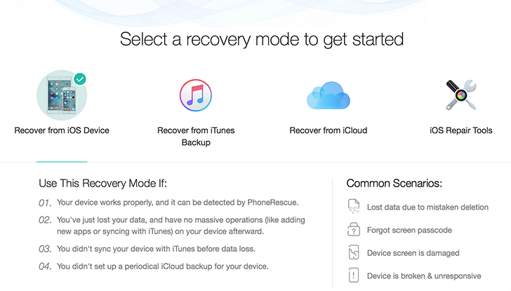 Recover Deleted Data (Photos, Messages, Files, etc.) from iOS