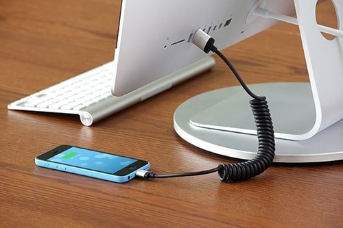 Just Mobile AluCable Twist Coiled Lightning Cable