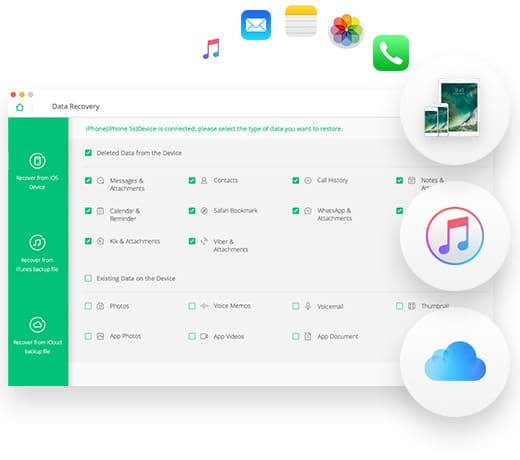 Recover deleted files - iOS Data Recovery
