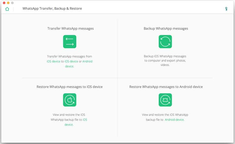 iOS WhatsApp Transfer, Backup & Restore