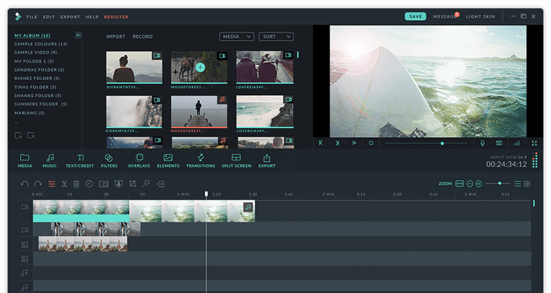 Filmora - Top video editing software for beginners