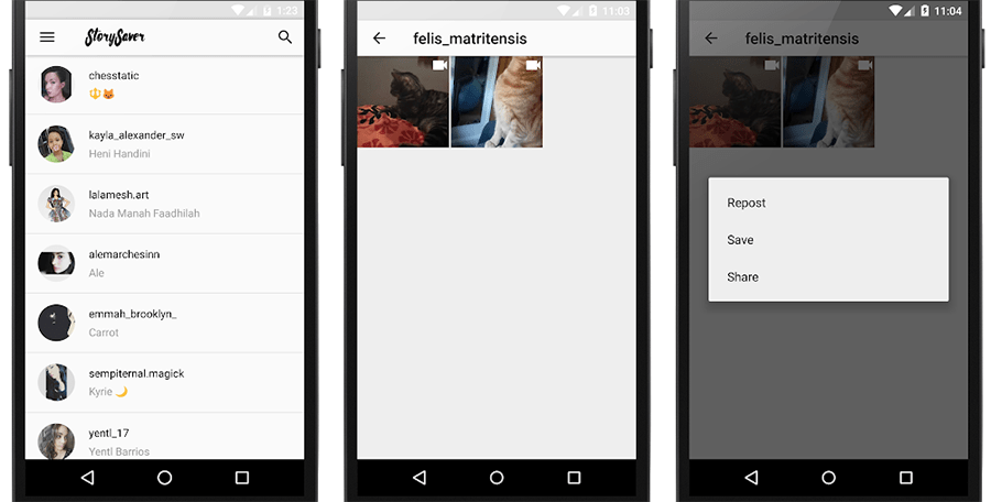 Download photos & videos from Instagram Stories on Android