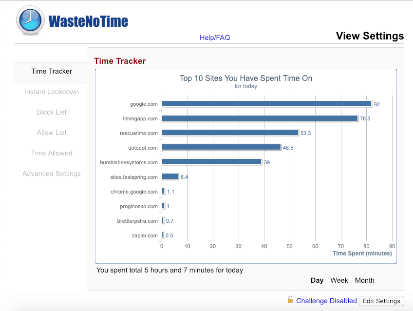 Manage your time spent on the Internet more efficiently