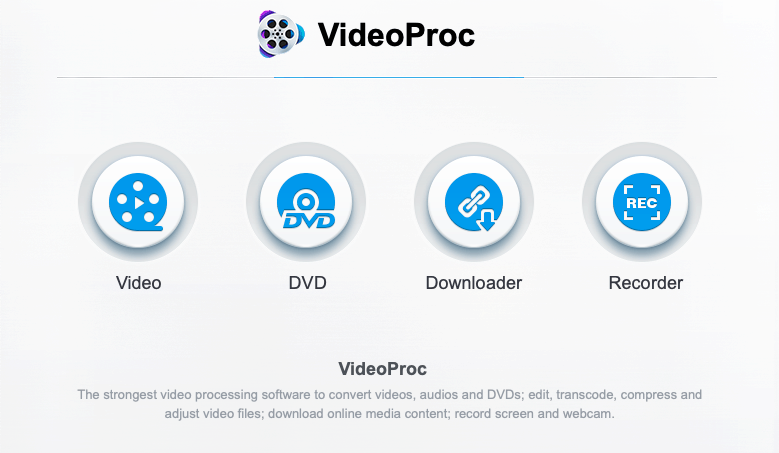 VideoProc — An all-in-one video processing software for Mac and PC