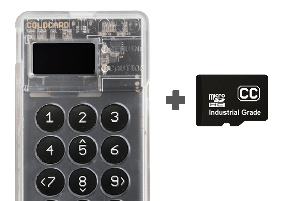 "Fully ""air-gapped"" solution - Coldcard Hardware Wallet"