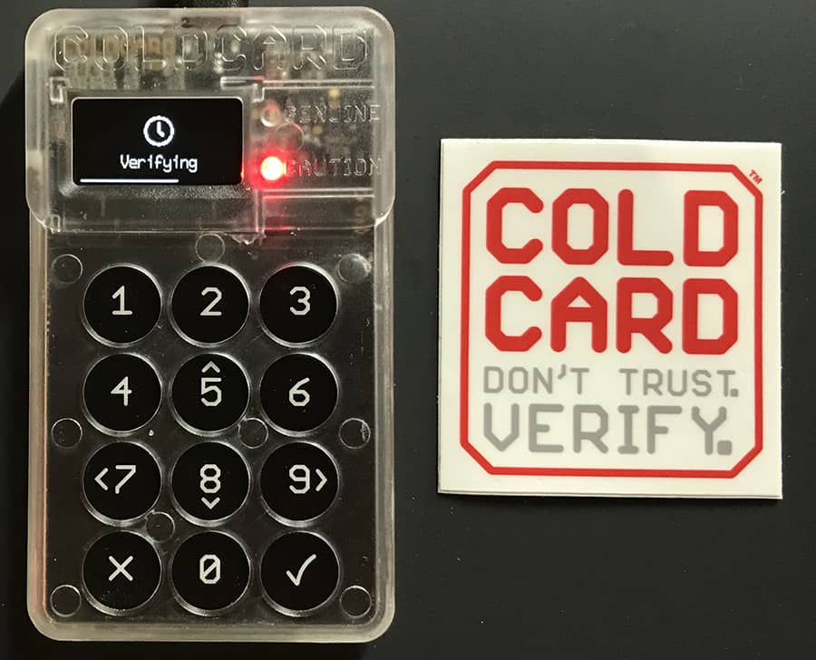The most secure, open-source Bitcoin hardware wallet - Coldcard