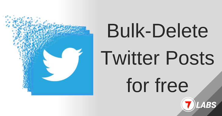 Delete Twitter Posts in Bulk