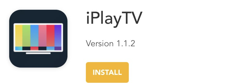 Install iPlayTV on iPhone, iPad without jailbreak