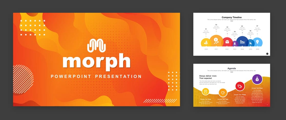 Morph PowerPoint template by SlideModel