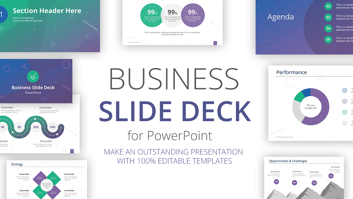 Business Slide Deck for PowerPoint by SlideModel