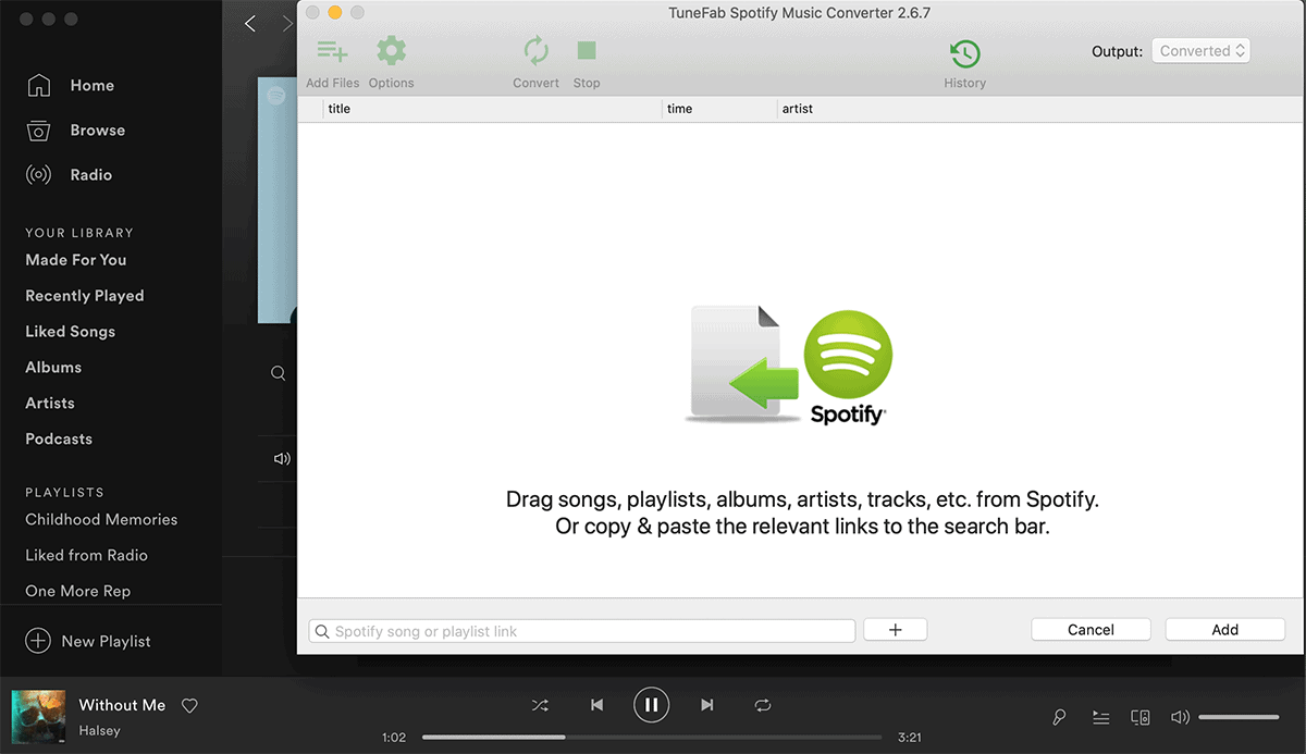 Convert Songs from Spotify to MP3 - Spotify DRM Removal