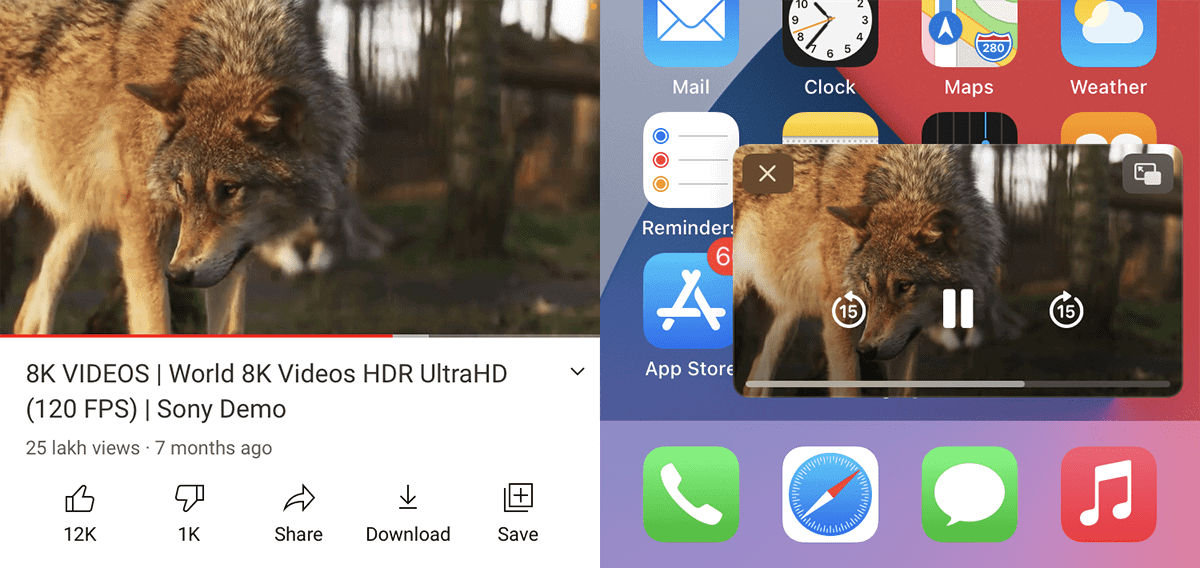 Use YouTube in picture-in-picture (PIP) mode on iPhone and iPad