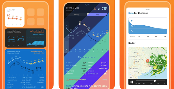 Weather Line – Themed Widgets - Top third-party apps with widgets for iPhone and iPad