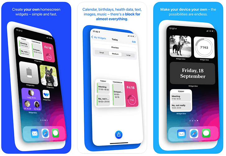Widgeridoo - Top third-party apps with widgets for iPhone and iPad