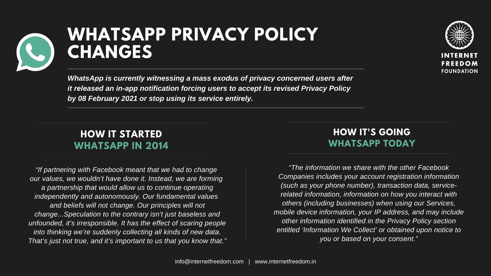All you need to know about WhatsApp's new Privacy Policy changes