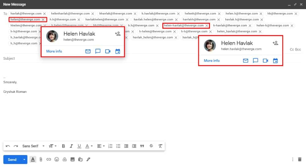 Helen Hovlak right emails